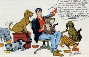 Dylan Dog. campagna contro l'abbandono degli animali