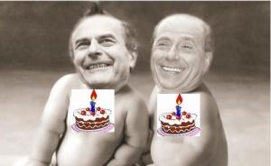 Compleanno di Berlusconi e Bersani