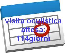 Tempo di attesa per una visita oculistica all'ASL: 114giorni