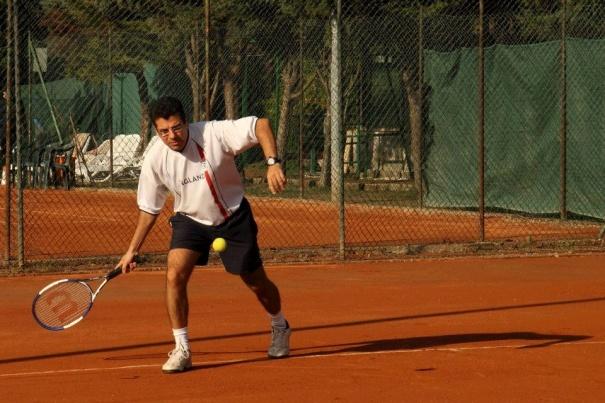 La reazione del tennista