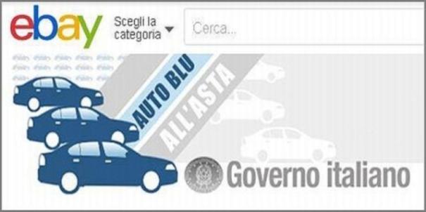 auto blu del Governo su ebay