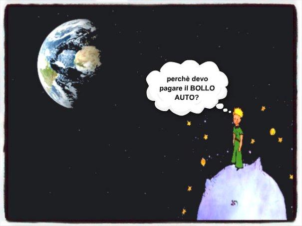 il bollo auto visto dallo spazio