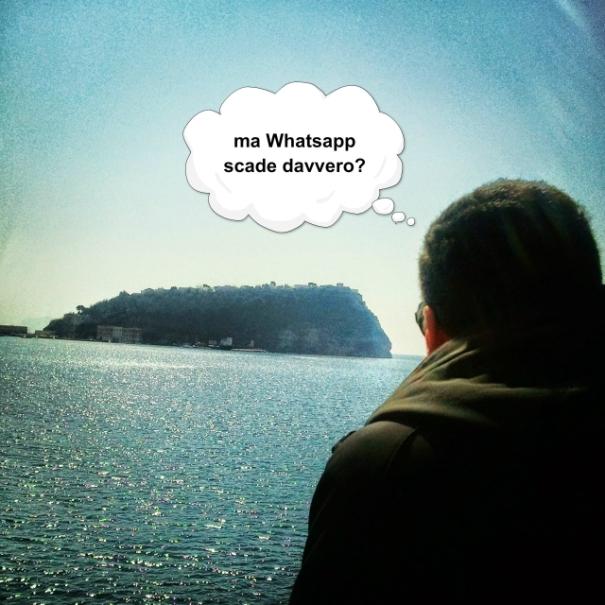 Il mare e le riflessioni di un giovane napoletano